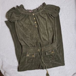 JUICY COUTURE SIZE S GREEN COLOR